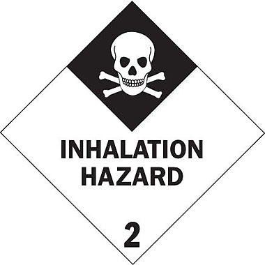 Tape Logic Inhalation Hazard - 2in. Tape Logic Shipping Label, 4in. x 4in., 500/Roll