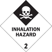 "Tape Logic Inhalation Hazard - 2"" Tape Logic Shipping Label, 4"" x 4"", 500/Roll"