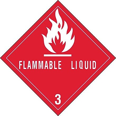 Tape Logic Flammable Liquids - 3in. Tape Logic Shipping Label, 4in. x 4in., 500/Roll