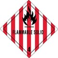 Tape Logic Flammable Solid - 4in. Tape Logic Shipping Label, 4in. x 4in., 500/Roll