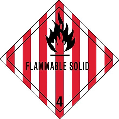 Tape Logic Flammable Solid - 4in. Tape Logic Shipping Label, 4in. x 4in.