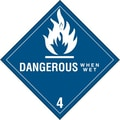 Tape Logic Dangerous When Wet - 4in. Tape Logic Shipping Label, 4in. x 4in., 500/Roll