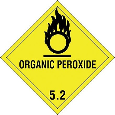 Tape Logic Organic Peroxide - 5.2in. Tape Logic Shipping Label, 4in. x 4in., 500/Roll
