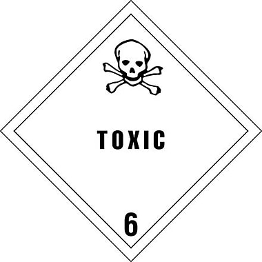 Tape Logic Toxic - 6in. Tape Logic Shipping Label, 4in. x 4in.