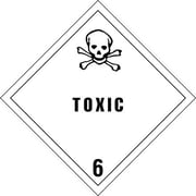 "Tape Logic Toxic - 6"" Tape Logic Shipping Label, 4"" x 4"", 500/Roll"