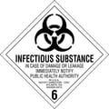 Tape Logic Infectious Substance - 6in. Tape Logic Shipping Label, 4in. x 4in., 500/Roll