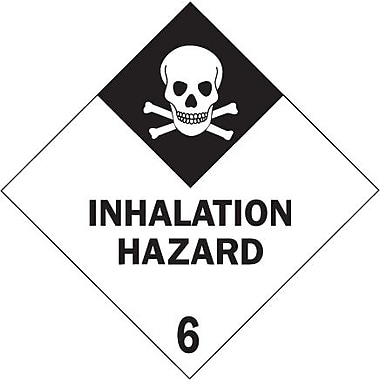 Tape Logic Inhalation Hazard - 6in. Tape Logic Shipping Label, 4in. x 4in., 500/Roll