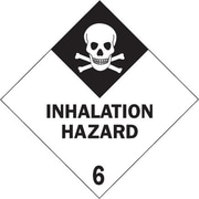 Tape Logic Inhalation Hazard - 6 Tape Logic Shipping Label, 4 x 4, 500/Roll