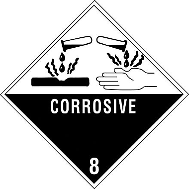 Tape Logic Corrosive - 8in. Tape Logic Shipping Label, 4in. x 4in.