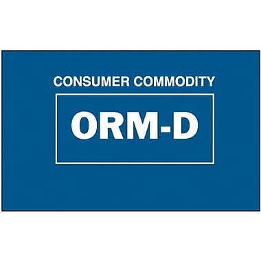 Tape Logic Consumer Commodity ORM-D Shipping Label, 1 3/8in. x 2 1/4in., 500/Roll