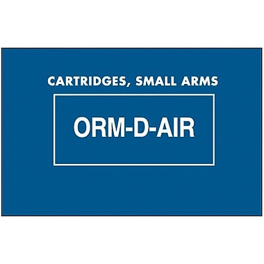 Tape Logic Cartridges, Small Arms ORM-D-AIR Shipping Label, 1 3/8in. x 2 1/4in.