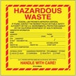 Tape Logic Hazardous Waste - California Shipping Label, 6in. x 6in.