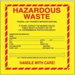 Tape Logic Hazardous Waste - Standard Shipping Label, 6in. x 6in., 500/Roll