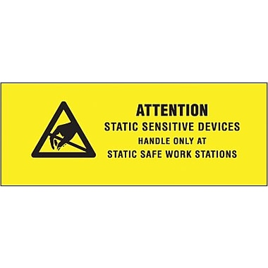 Tape Logic Attention - Static Sensitive Devices Shipping Label, 5/8in. x 2in.