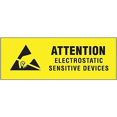 Tape Logic Electrostatic Sensitive Devices Shipping Label, 3/8in. x 1 1/4in.