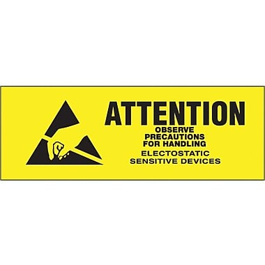 Tape Logic Attention - Observe Precautions Shipping Label, 5/8in. x 2in.