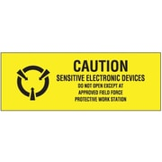 "Tape Logic® Labels, ""Sensitive Electronic Devices"", 5/8"" x 2"", Black/Yellow, 500/Roll"