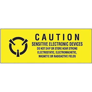 Tape Logic Sensitive Electronic Devices Shipping Label, 5/8in. x 2in.
