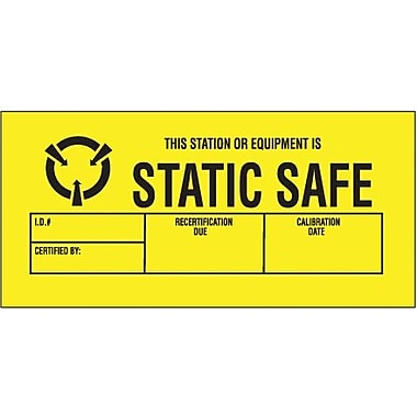 Tape Logic Static Safe Shipping Label, 1 3/4in. x 3in.