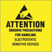 "Tape Logic Attention - Observe Precautions Tape Logic Shipping Label, 4"" x 4"", 500/Roll"