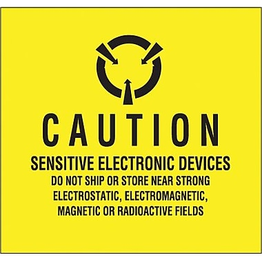 Tape Logic Sensitive Electronic Devices Tape Logic Shipping Label, 4in. x 4in.