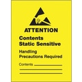 Tape Logic Contents Static Sensitive Shipping Label, 1 3/4 x 2 1/2in.