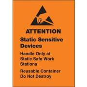 Tape Logic Static Sensitive Devices Shipping Label, 1 3/4 x 2 1/2, 500/Roll