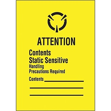 Tape Logic Contents Static Sensitive Shipping Label, 1 3/4in. x 2 1/2in.