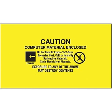 Tape Logic Computer Material Enclosed Shipping Label, 3in. x 5in., 500/Roll