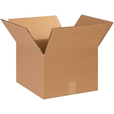 14in.(L) x 14in.(W) x 10in.(H) - Staples Double Wall Corrugated Shipping Box, 15/Bundle
