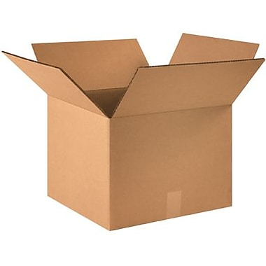 16in.(L) x 16in.(W) x 12in.(H) - Staples Double Wall Corrugated Shipping Box, 10/Bundle