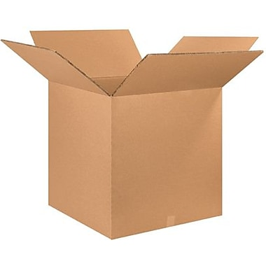 26in.(L) x 26in.(W) x 26in.(H) - Staples Double Wall Corrugated Shipping Box, 5/Bundle