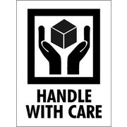 """Tape Logic Handle With Care Shipping Label, 3"""" x 4"""", 500/Roll"""