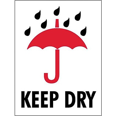 Tape Logic Keep Dry Shipping Label, 3in. x 4in., 500/Roll