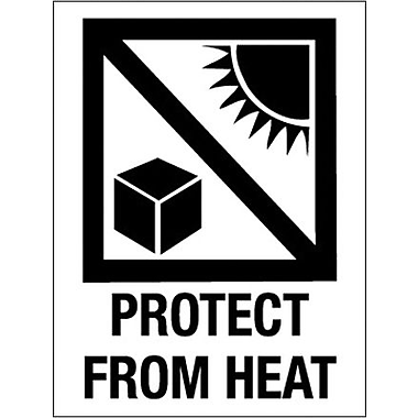 Tape Logic Protect from Heat Shipping Label, 3in. x 4in., 500/Roll
