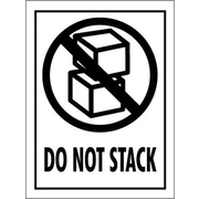 Tape Logic Do Not Stack Shipping Label, 3 x 4, 500/Roll