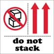"Tape Logic Do Not Stack Tape Logic Shipping Label, 4"" x 4"", 500/Roll"