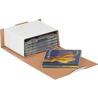 5 5/8in. x 5in. x 2 9/16in. - Staples CD Mailers