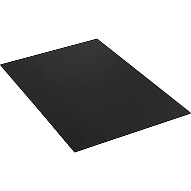 40in. x 48in. - Staples Black Plastic Sheet, 10/Bundle