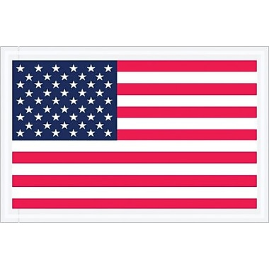 Staples Packing List Envelope, 5 1/4in. x 8in. - Full Face, U.S.A. Flag