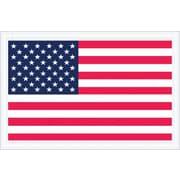 """Staples Packing List Envelope, 5 1/4"""" x 8"""" - Full Face, U.S.A. Flag, 1000/Case"""