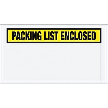 Staples Packing List Envelope, 5 1/2in. x 10in. - Yellow Panel Face, in.Packing List Enclosedin., 1000/Case