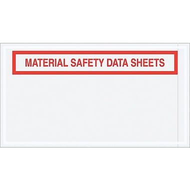 Staples Packing List Envelope, 5 1/2in. x 10in. - Panel Face, in.Material Safety Data Sheetsin.