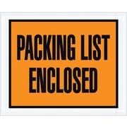 Staples Packing List Envelope, 4 1/2 x 5 1/2 - Orange Full Face, Packing List Enclosed, 1000/Case