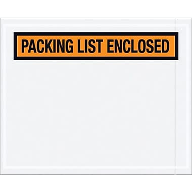 Staples Packing List Envelope, 4 1/2in. x 5 1/2in. - Orange Panel Face, in.Packing List Enclosedin.