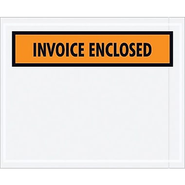 Staples Packing List Envelope, 4 1/2in. x 5 1/2in. Orange Panel Face in.Invoice Enclosedin.