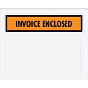 Staples Packing List Envelope, 4 1/2 x 5 1/2 Orange Panel Face Invoice Enclosed, 1000/Case