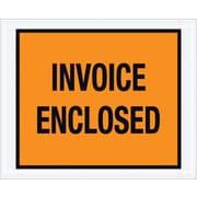 Staples Packing List Envelope, 4 1/2 x 5 1/2 Orange Full Face Invoice Enclosed, 1000/Case