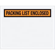 "Staples Packing List Envelope, 7"" x 5 1/2"" - Orange Panel Face, ""Packing List Enclosed"", 1000/Case"