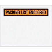 "Staples Packing List Envelope, 7"" x 5 1/2"" - Orange Panel Face, ""Packing List Enclosed"", 1000/Case"